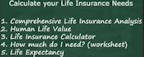 best life insurance worksheet